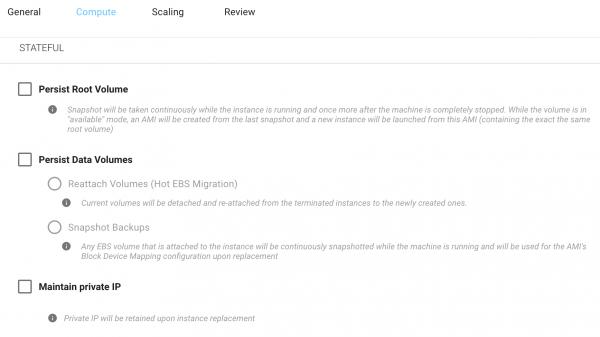 Spot Instances for Stateful applications