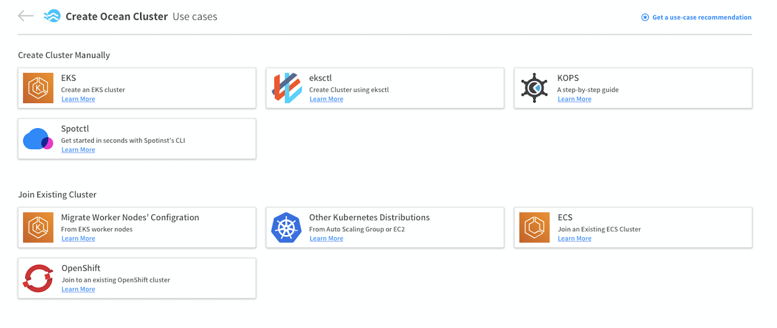 Create a new Ocean integrated OpenShift Cluster