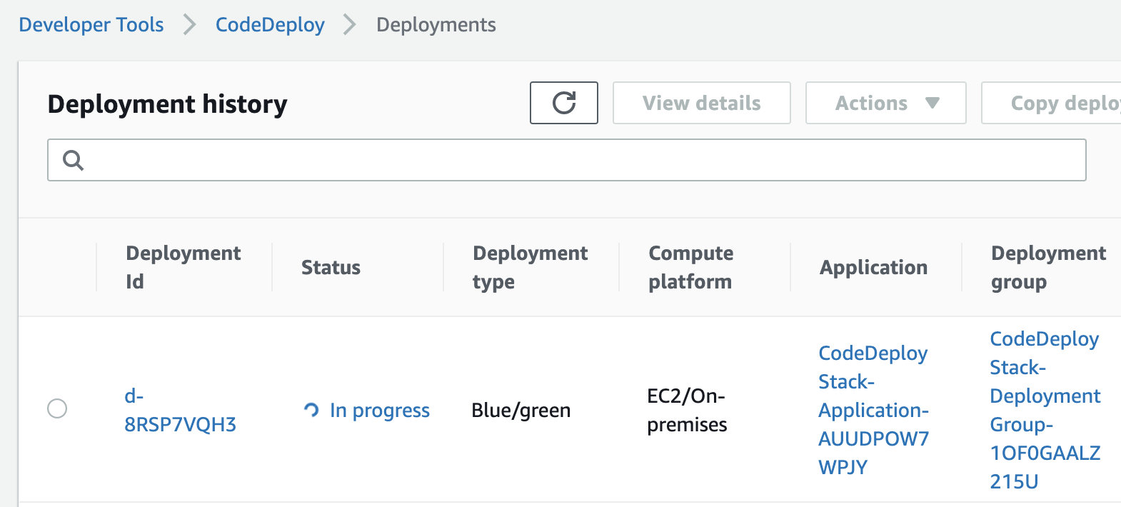 CodeDeploy will deploy the new Application Revision from an AWS S3 Bucket or a GitHub Repository